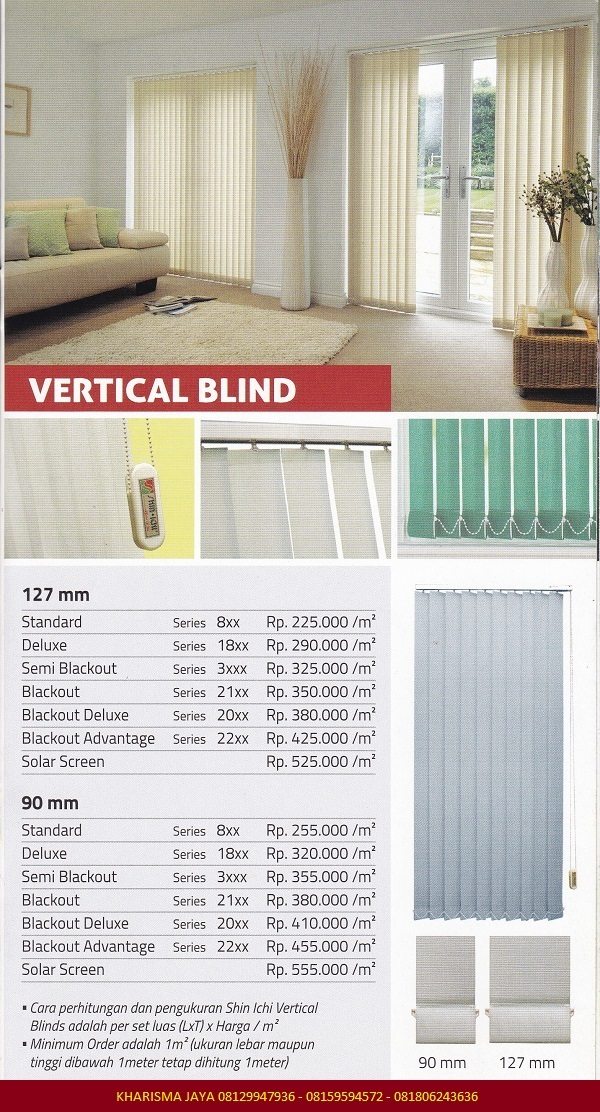 Harga Vertical Blind Shinichi