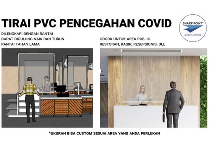 Tirai PVC Pencegahan Covid