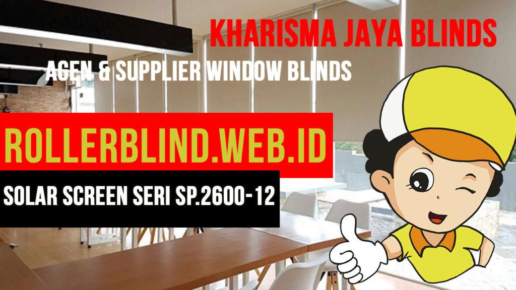 Roller Blinds Motorised Solar Screen SP.2600-12
